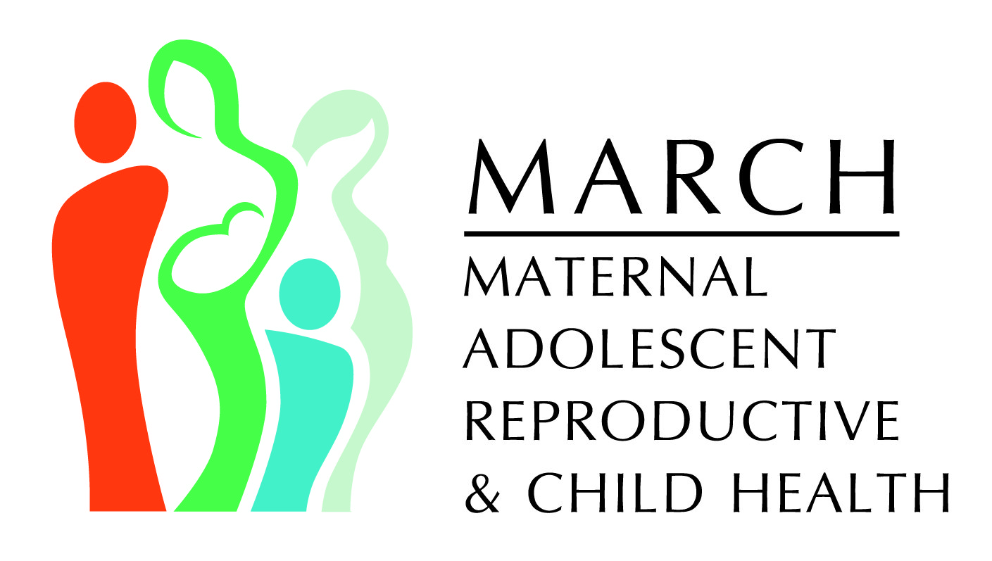 MARCH, Maternal, Adolescent, Reproductive & Child Health logo.